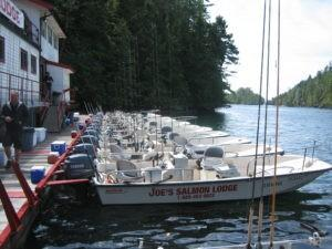 A fleet of Boston Whalers ready for fishing.